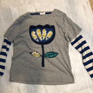 Mini Boden long sleeve flower shirt. Size 9/10.